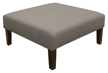 Brinkley Cocktail Ottoman, Pewter