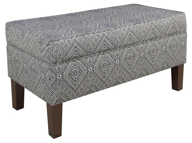 Breene Storage Bench, Prussian Blue