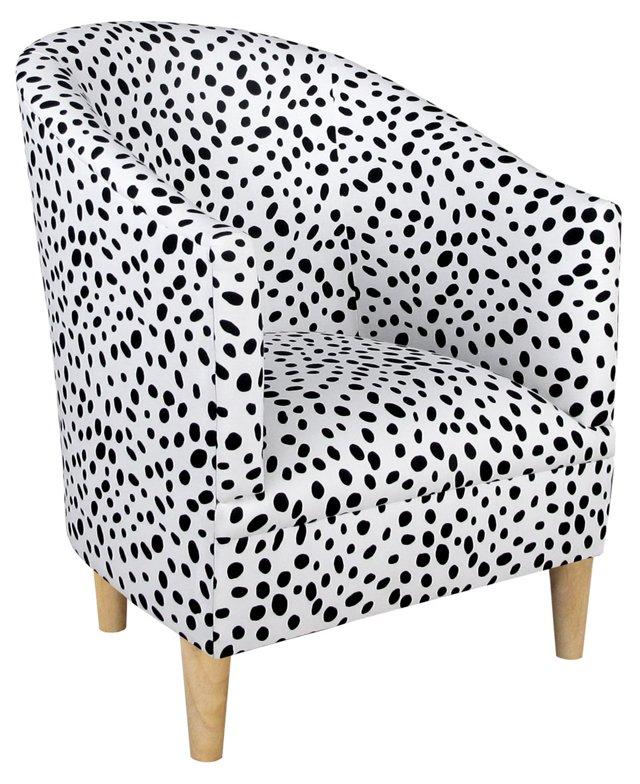 Ashlee Tub Chair, Black Dots