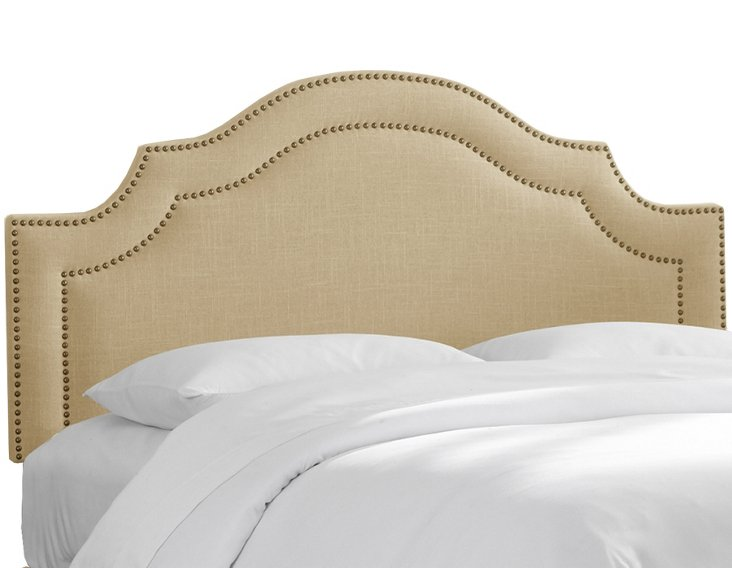 Bedford Nail-Button Headboard, Sandstone
