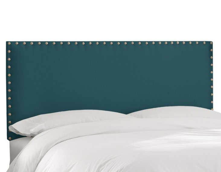 Loren Upholstered Headboard, Peacock
