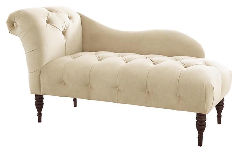 Frances Velvet Tufted Chaise
