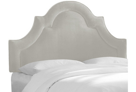 Kennedy Headboard, Light Gray Velvet