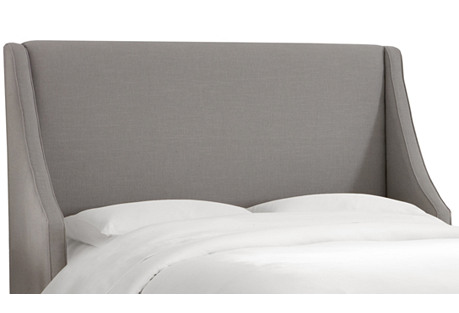 Davis Wingback Headboard, Gray