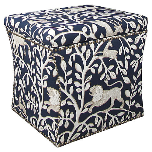 Merritt Storage Ottoman, Navy Pantheon