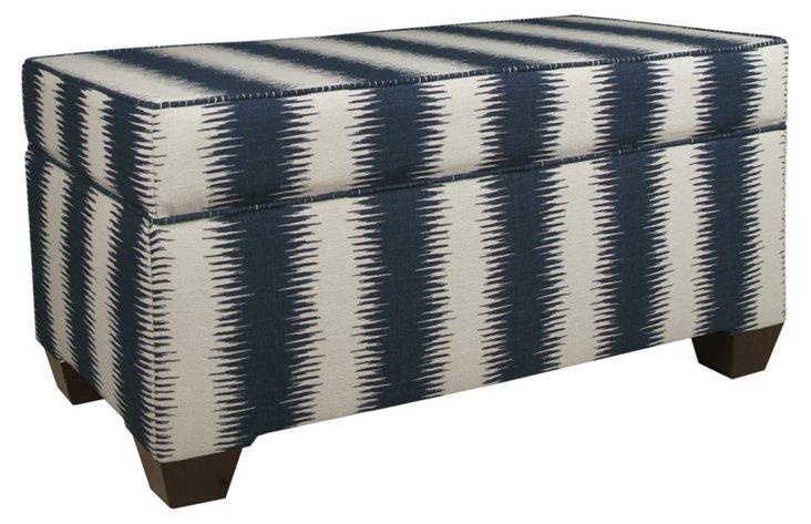Arthur Storage Bench, Navy/Ivory