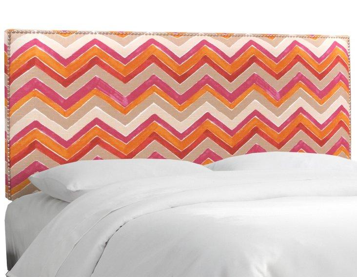 Loren Headboard, Pink/Orange