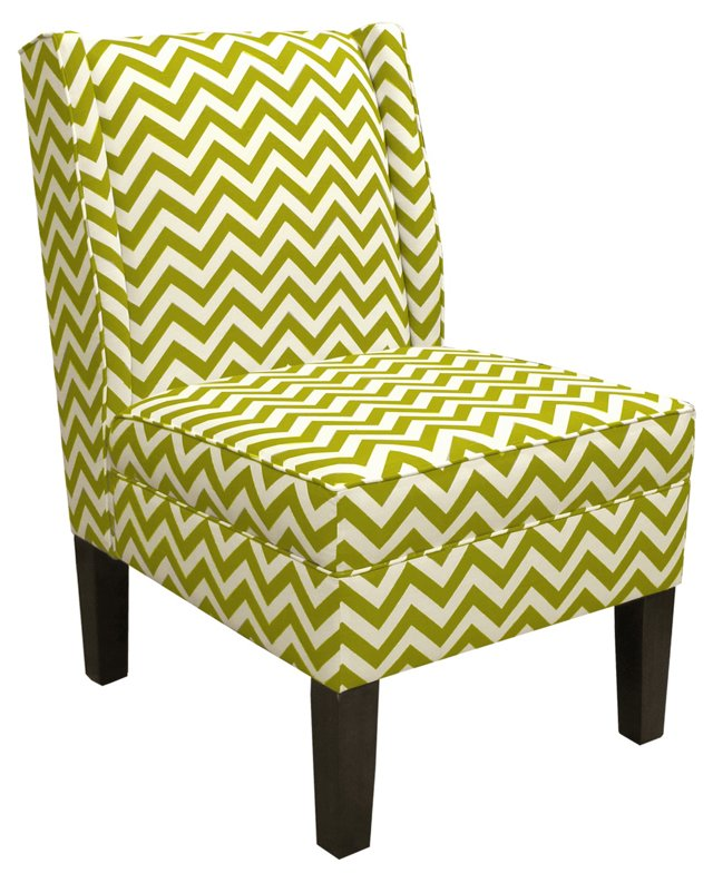 Porter Wingback Chair, Green