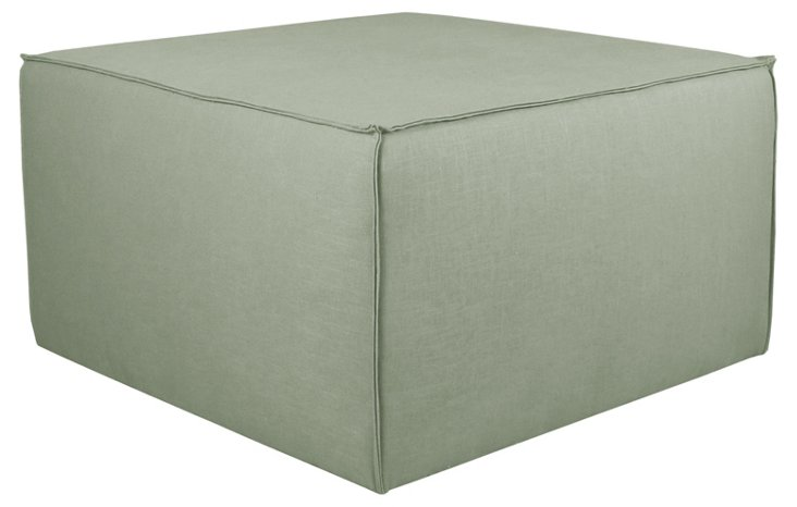 Maeve Cocktail Pouf, Gray