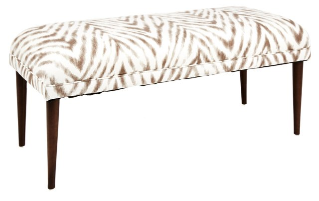 "Colette 49"" Bench, Brown/White"