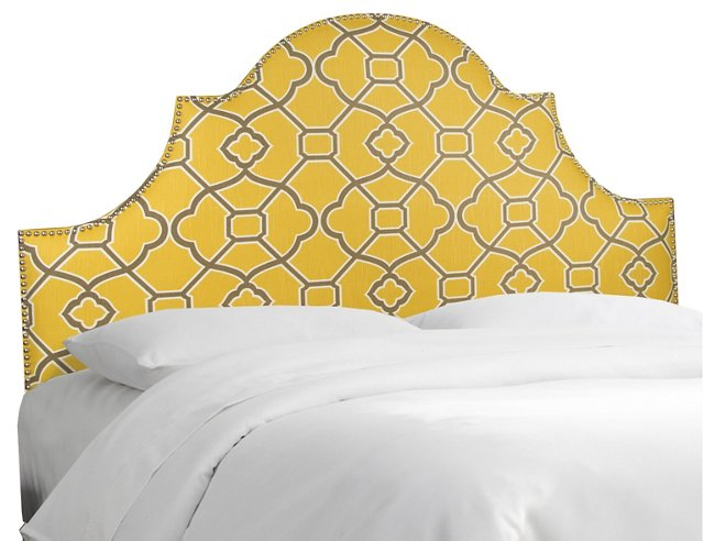 Hedren Headboard, Yellow/Gray