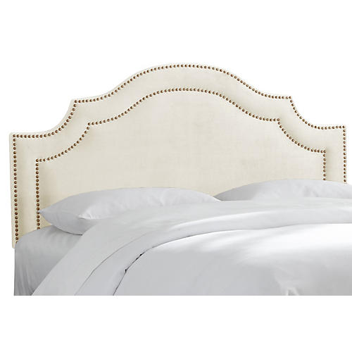 Bedford Headboard, Antiqued White