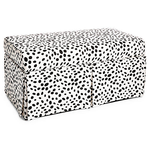 Anne Skirted Storage Bench, Dots