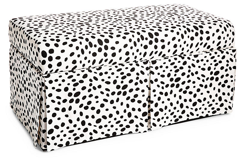 Hayworth Skirted Storage Bench - Dots