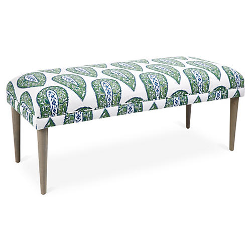 Colette Bench, Green Ikat