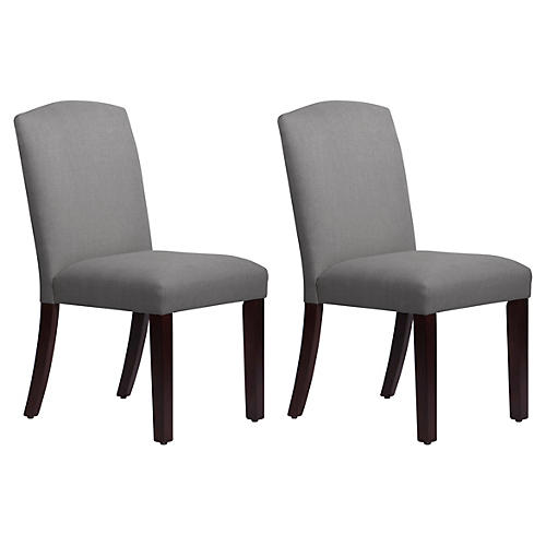 S/2 Marie Side Chairs, Gray