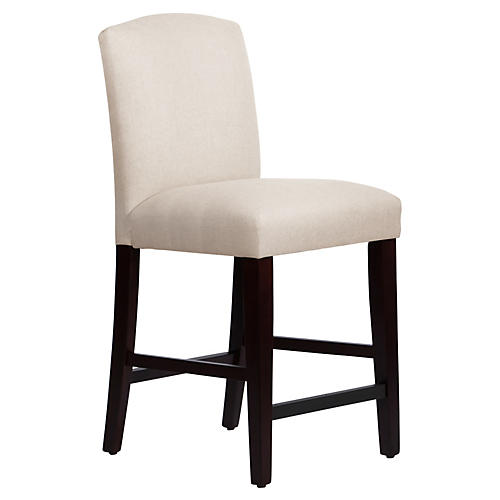 Marie Arched Counter Stool, Talc