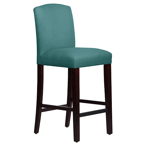 Indio Arched Barstool, Laguna Linen