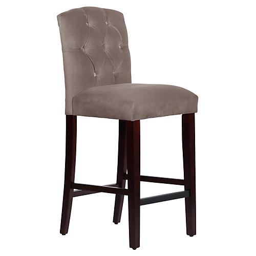 Leo Tufted Barstool, Smoke