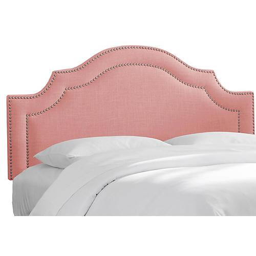 Bedford Headboard, Pink Linen