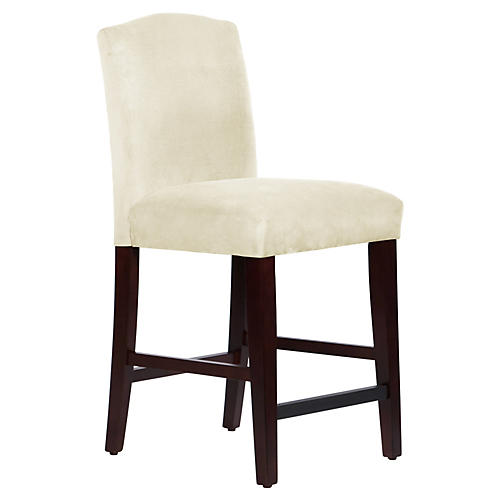 Marie Counter Stool, Antiqued White Linen