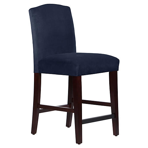 Marie Arched Counter Stool, Navy