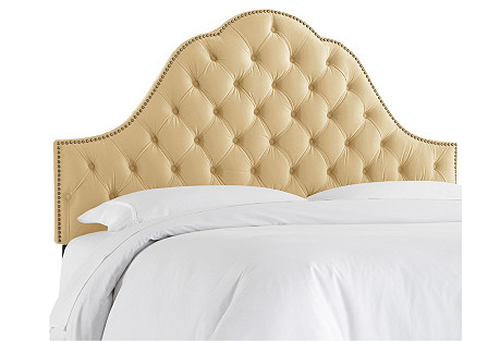 Alina Tufted Headboard, Wheat Velvet