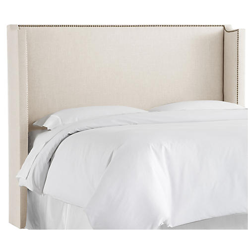 Haley Wingback Headboard, Talc