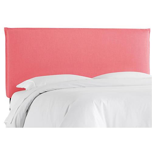 Frank Headboard, Coral Linen