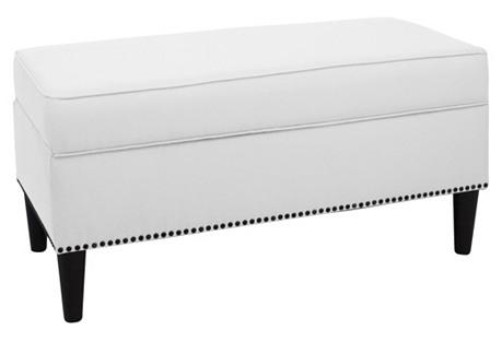 Winnie Storage Bench, White