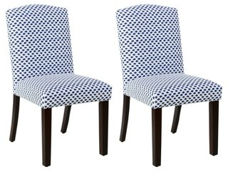 Marie Blue Dot Side Chairs, Pair   Dining Chairs   Dining   Furniture | One  Kings Lane