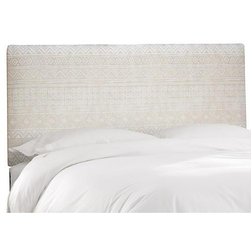 Novak Headboard, Natural Batik Linen