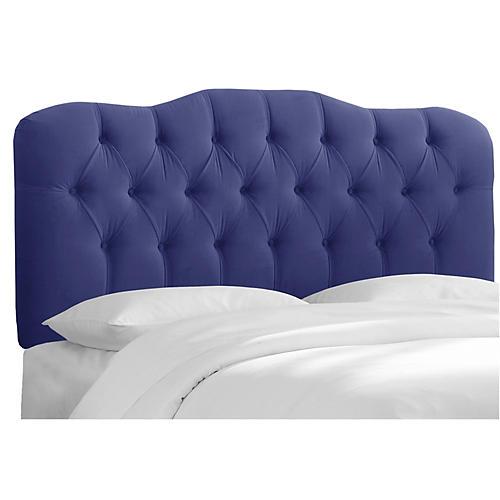 Davidson Tufted Headboard, Blue Velvet