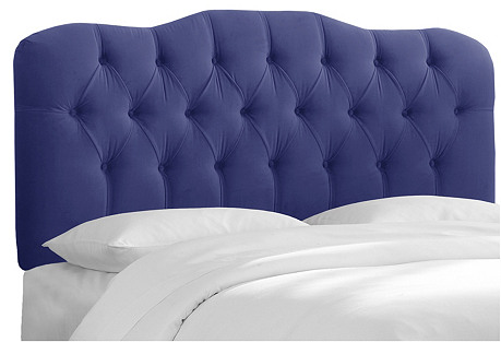 Davidson Tufted Headboard,  Blue Velvet