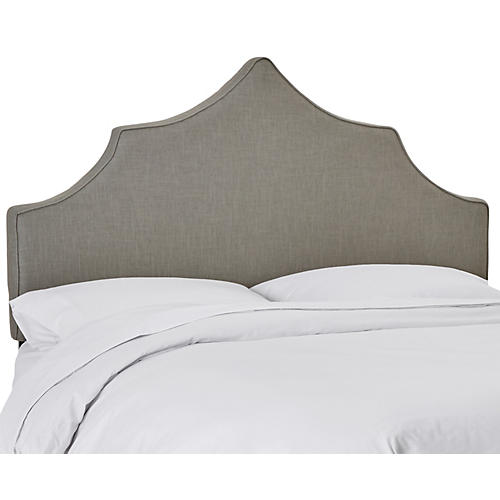Camille Headboard, Light Gray Linen