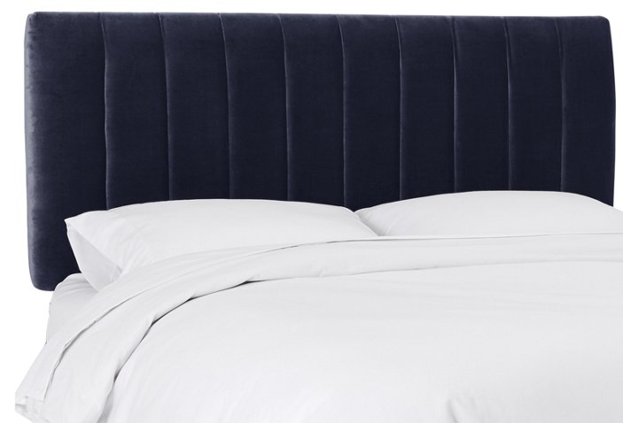 air blue twin bed navy size velvet king in tufted headboard sophisticated black