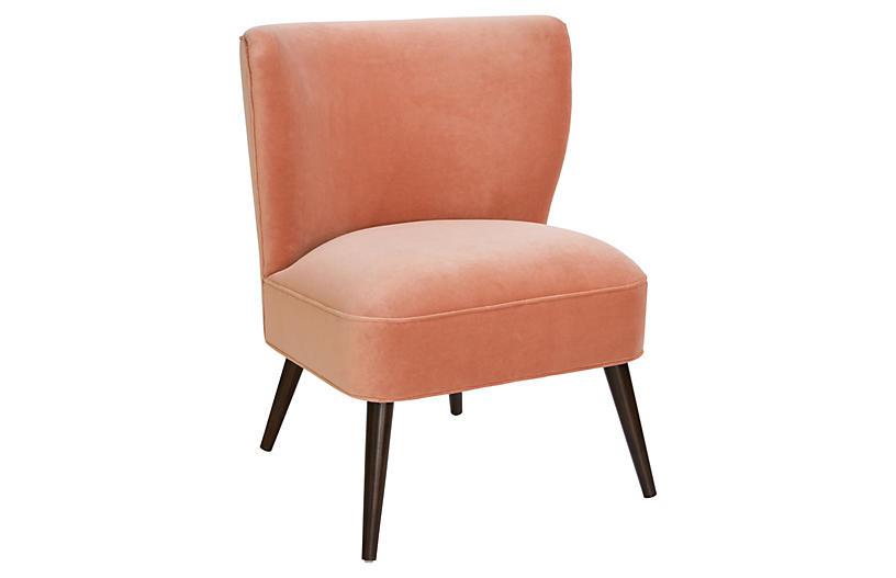 Bailey Accent Chair, Nectar Velvet