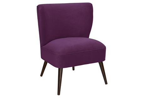Bailey Chair, Violet Velvet