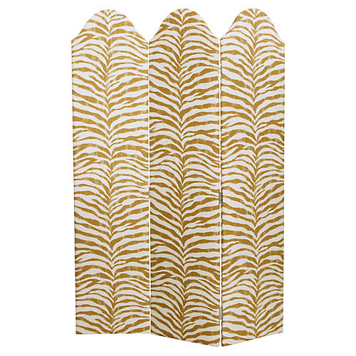Charlotte Room Screen, Ochre Zebra