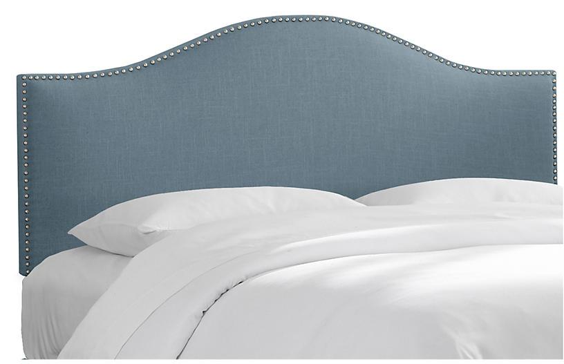 Tallman Headboard, French Blue Linen