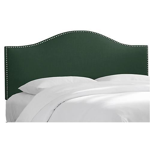 Tallman Headboard, Green Linen