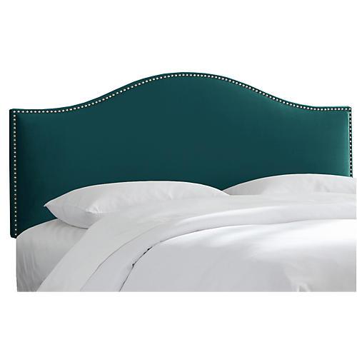 Tallman Headboard, Peacock Velvet