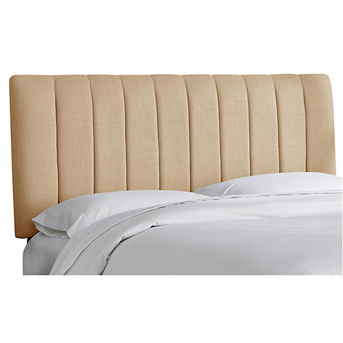 Delmar Channel Headboard, Sand Linen
