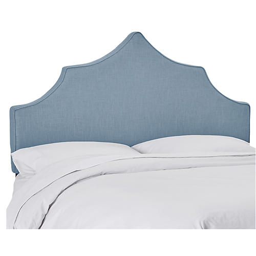 Camille Headboard, French Blue Linen