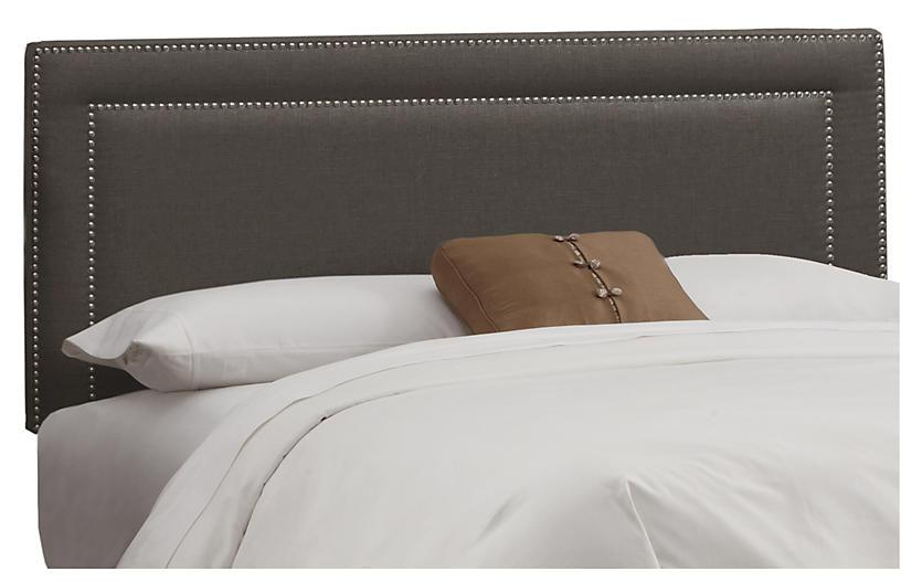 Bardot Headboard - Charcoal Linen