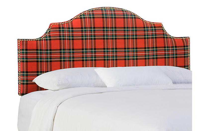 Miller Headboard, Red Tartan
