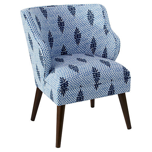 Kira Accent Chair, Boca Medallion