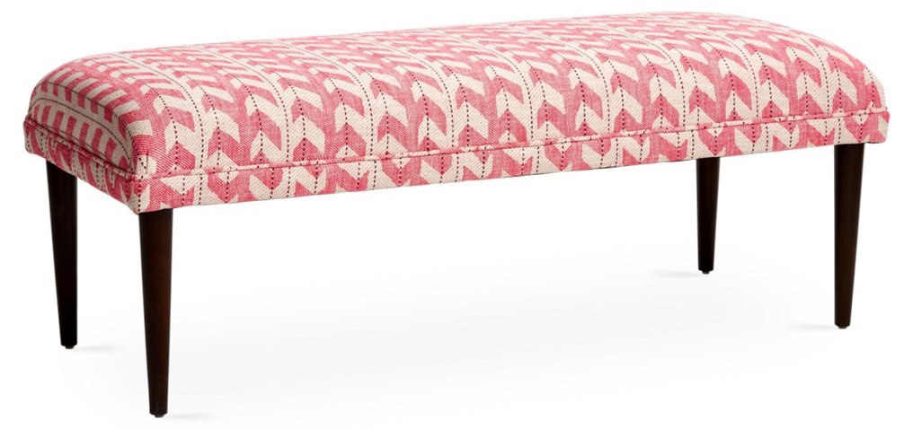 Colette Bench, Pink Jetty Stripe - Standard Benches - Benches ...