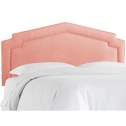 Nina Headboard, Pink Linen