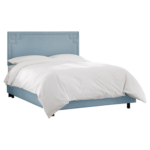 Aiden Bed, Light Blue